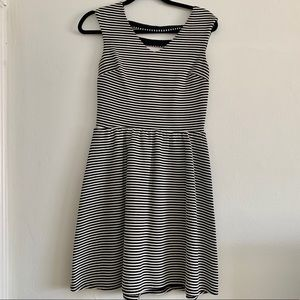 Xhilaration Black and White Striped Dress S